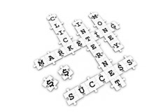 Internet Marketing - Puzzle Crossword Game - stock footage