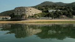 St Martin Fort at Santona 2 Stock Footage