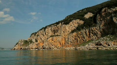 Napoleonic Fort on the cliffs Stock Footage