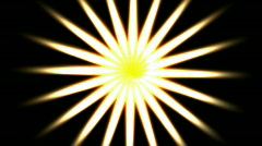 Abstract bright swirl white glow beam light star pattern. Stock Footage