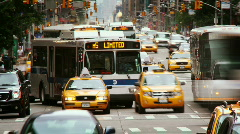 Stock Video Footage of Busy NYC street time lapse