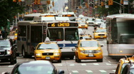 Busy NYC street time lapse Stock Footage