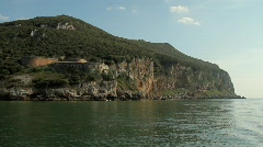 Napoleonic Fort on the cliffs 6 Stock Footage
