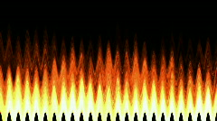 Abstract flame pulse wave fire flame heat energy fiery light background. Stock Footage