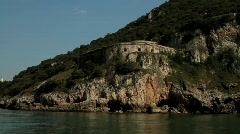 Napoleonic Fort on the cliffs 5 Stock Footage