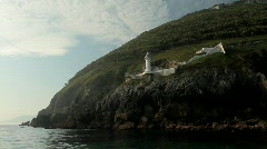 Lighthouse at the Camtabrian Coast 3 Stock Footage