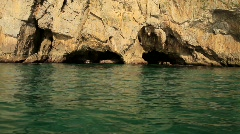 Eroded rocks Stock Footage