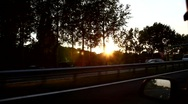 Riding car on highway Stock Footage