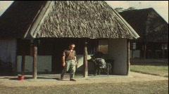 On Safari in Kenia (Vintage 8 mm amateur film) Stock Footage