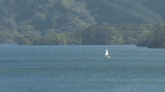 Picton landscape zoom-out, New Zealand Stock Footage