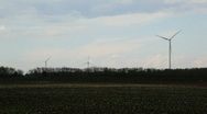 Green energy on empty field,tilt to sky Stock Footage