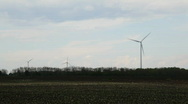 Green energy on empty field Stock Footage