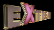 Extreme Sports 3D Text Gold Stock Footage