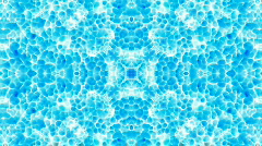 Abstract blue flower pattern orient fancy glass texture background. Stock Footage