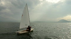 Sailing at santona3 Stock Footage