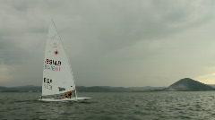Sailing at santona4 Stock Footage