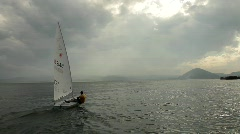 Sailing at santona2 Stock Footage