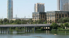 Downtown Austin, Texas First St. Bridge Stock Footage