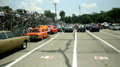Cars at Kil-Kare lining up to race Stock Footage