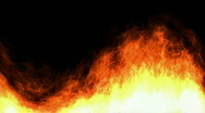 Hot burn burst energy fiery fire flame,explosion particles fireworks background. Stock Footage