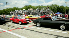 Cars lined up at Kilkare raceway Stock Footage