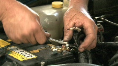 Car repair mechanics Stock Footage