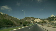 Stock Video Footage of Haifa Road Driving up Hill.