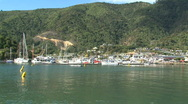 Stock Video Footage of Picton harbor, bay, New Zealand