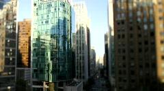 city buildings urban canyon shift+tilt 3 - 7D - stock footage