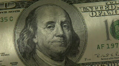 One hundred dollar bill close up Stock Footage