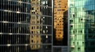 City Buildings Reflections Shift+Tilt  6 - 7D Stock Footage