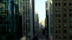 City buildings urban canyon shift+tilt- 7D Stock Footage