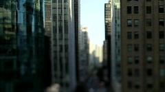 city buildings urban canyon shift+tilt- 7D - stock footage