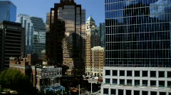 City Buildings Reflections Shift+Tilt  5 - 7D Stock Footage