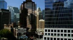 City Buildings Reflections Shift+Tilt  5 - 7D - stock footage
