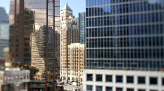 City Buildings Reflections Shift+Tilt 4 - 7D Stock Footage