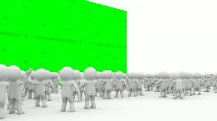 3d Cartoon crowd people applause - stock footage