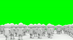 Stock Video Footage of 3d Cartoon crowd people applause