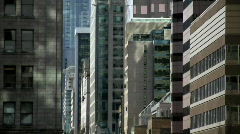 City buildings urban canyon - 7D Stock Footage