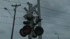 RR signal & train Stock Footage
