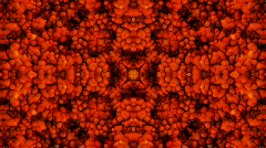 Abstract red fire,flower bacteria microbe blood magma pattern background. Stock Footage
