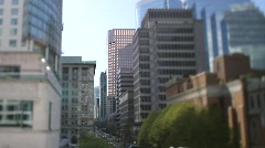 City Street Focus-change Shft+Tilt 7D Stock Footage