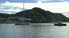 Harbor Picton, New Zealand Stock Footage
