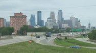 Highway traffic to Mpls Stock Footage