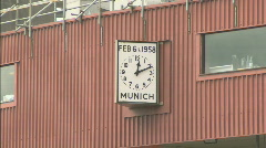 Manchester United Football Club / Old Trafford  Munich clock 1920x1080 Stock Footage