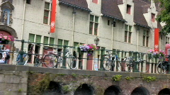 Ghent bicycles - stock footage