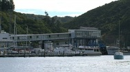 Stock Video Footage of Zoom-out ferry terminal Picton, New Zealand