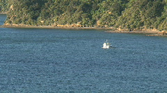 Picton zoom-out harbor, New Zealand Stock Footage