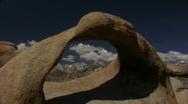 Stock Video Footage of Mount Whitney HD04 Alabama Hills Mobius Arch