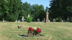 Canadian Cemetery, Fort Langley, Canada Stock Footage
